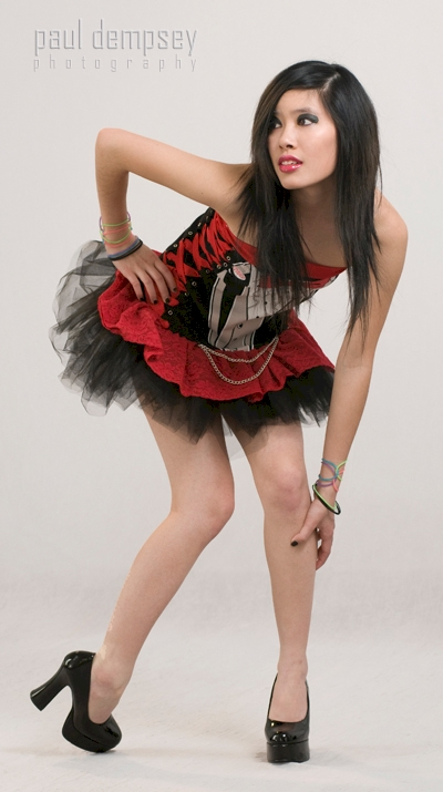 Female model photo shoot of chrisxxvanity by Paul Dempsey, hair styled by Elizabeth Vokes