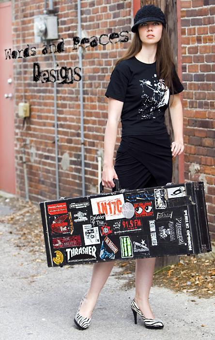 Sanford, Florida Apr 06, 2008 2008 Michael van Gelder Model: Tara Lightfoot / Project: Words and Peaces Designs