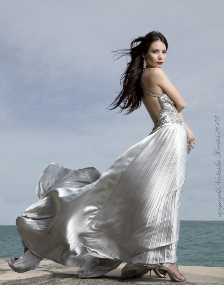 Female model photo shoot of Yulia Gulia in Star Island, FL, wardrobe styled by NuriaCStylist