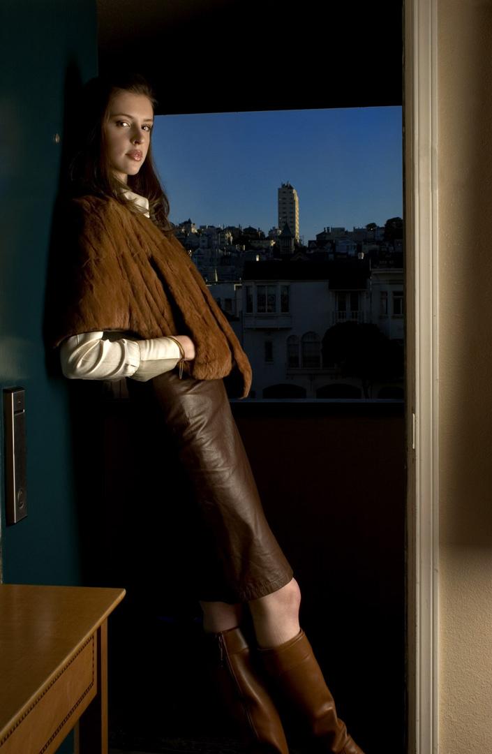Female model photo shoot of Keri L MissAnthrope in Hemali MM site, S.F.