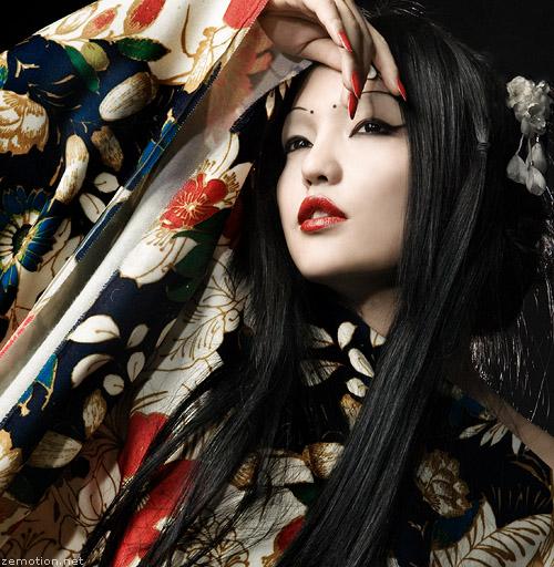 Female model photo shoot of Jingna Zhang, makeup by qian wang