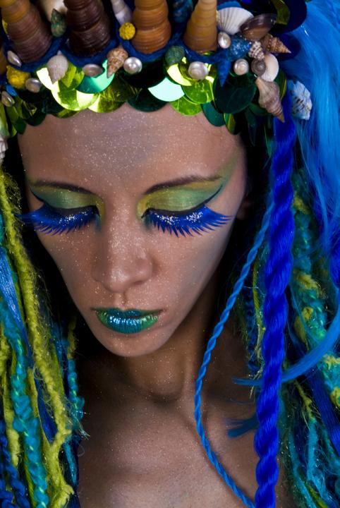 Apr 15, 2008 wet ltd, mua/hair piece by dawn marie kerri taylor blue and green makeup