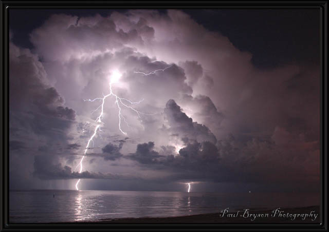 Treasure Island, FL Apr 15, 2008 2008 Paul Bryson Lightning Crashes
