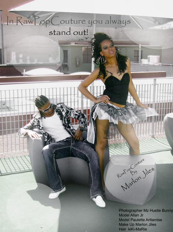 Male and Female model photo shoot of ALTER-EGO COUTURE, Allan Jr and Paulette Arttamise