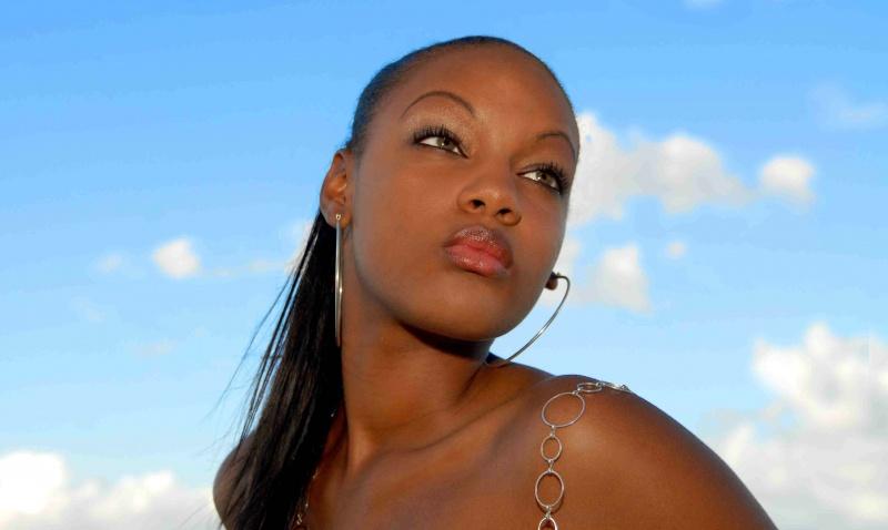 Female model photo shoot of Splexytesha in Orange Hill Beach, Nassau Bahamas