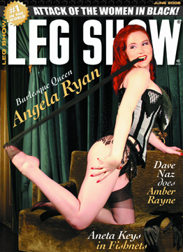 nyc Apr 18, 2008 viva van stroy On stands now! June 08 cover of Leg Show. mua: deigh rox, corset: versatile fashions