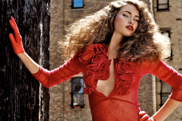 Manhatton, NY Apr 18, 2008 JBassett.com Model: Neelia - Wilhelmina / MUA: Kathy Aragon #3581 / Hair: melanie medeiros #40514 / Stylist: David Wadjija