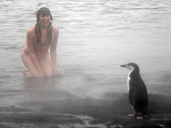Deception Island, Antarctica Apr 20, 2008 Unconventional swim suit shot