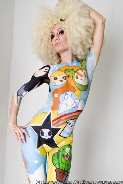 Apr 22, 2008 TokiDoki theme body paint