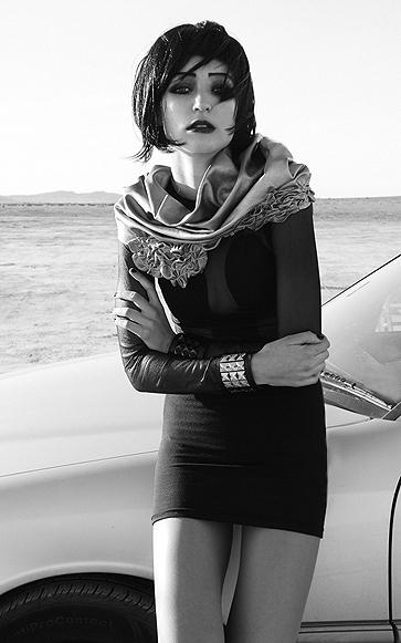 Female model photo shoot of Iman Haji in The Desert