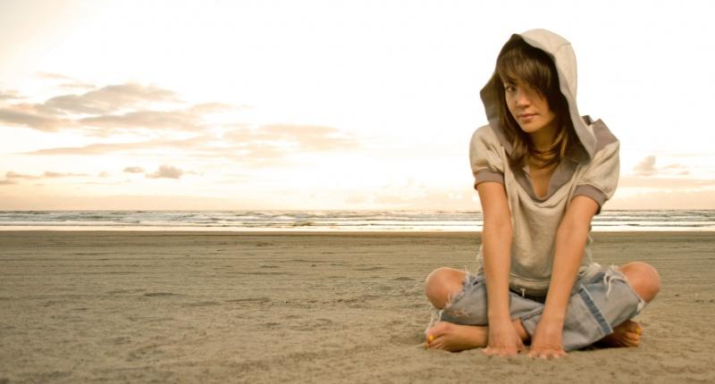 Female model photo shoot of Desiree Cromwell in Oregon Coast