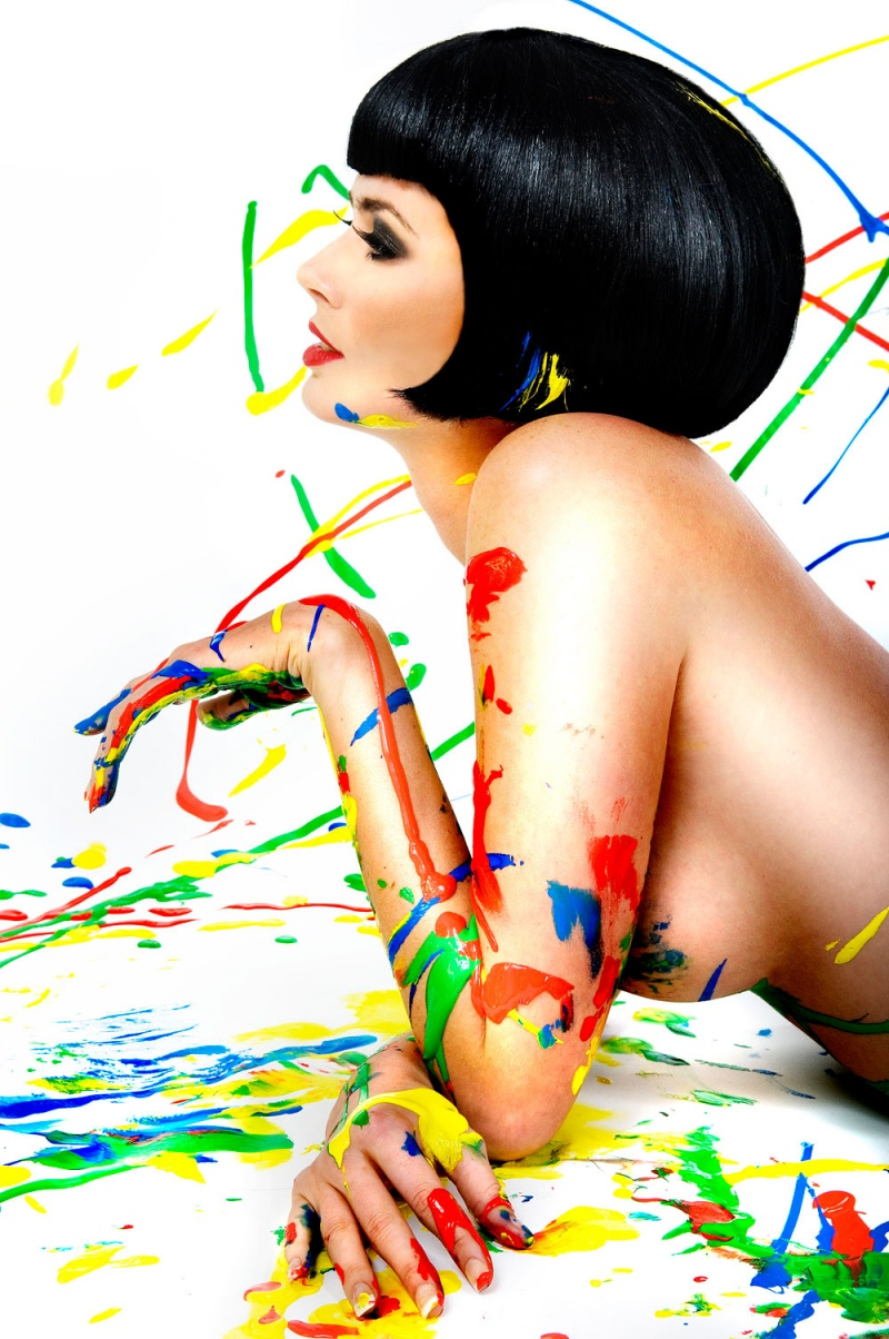Manchester Apr 28, 2008 Shirlaine Forrest Paint Madness (Model: Nicola Cowell)