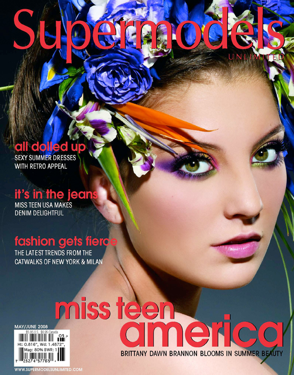 Model: Brittany Brannon. Makeup Artist: Erin Parsons. Hair Stylist: Christine Consiglio. Stylist: Annie Pemberton. Apr 29, 2008 2008 Kevin Michael Reed Supermodels Unlimited Magazine :: May/June 2008 Cover