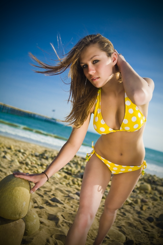 Ventura May 03, 2008 KookingProductions Yellow Polka Dot Bikini