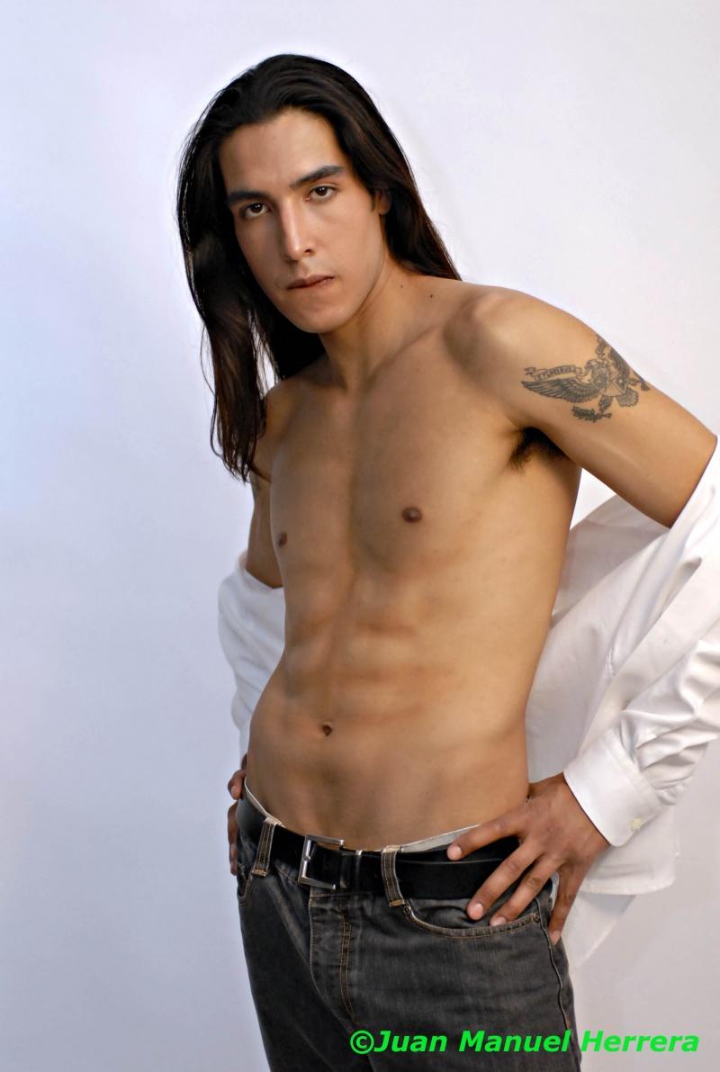 Male model photo shoot of JuanManuel H and Cuauhchin in Photohispana Studio
