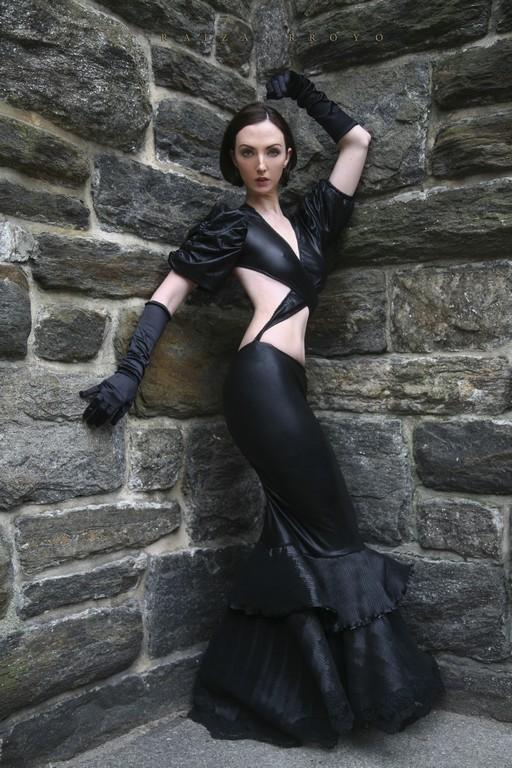 Female model photo shoot of Raiza  and Dori  in Bronx, NY, clothing designed by Ana Segura