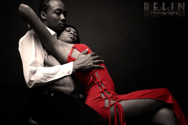 Male and Female model photo shoot of BelinPhotography, Tarzan Thompson and Asia Diamond Mason in Harlem, NY