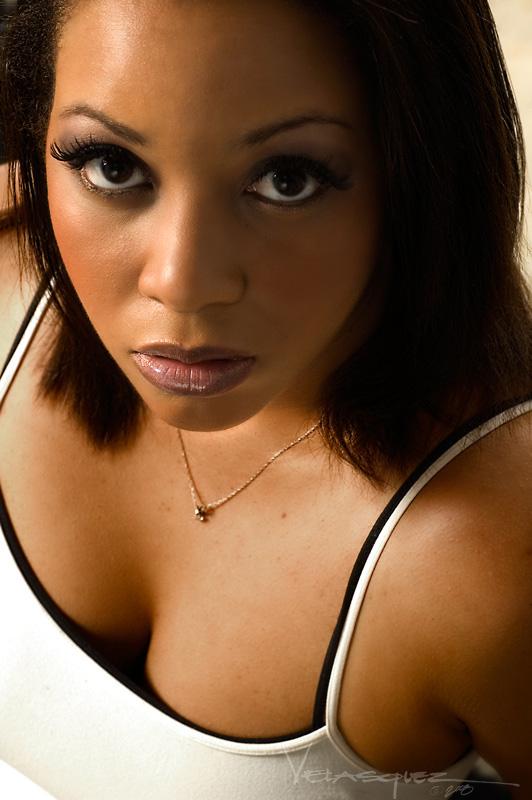 Female model photo shoot of Jade Q by Eddie Velasquez in Make Up by Miya E
