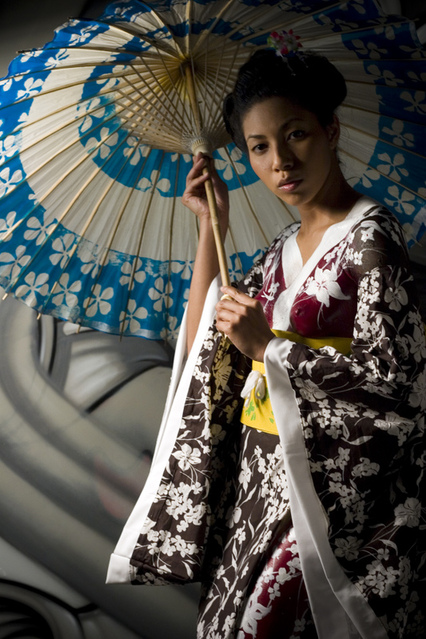 Los Angeles,CA May 13, 2008 Bhoanath Foto studio Bodypainted Kimono