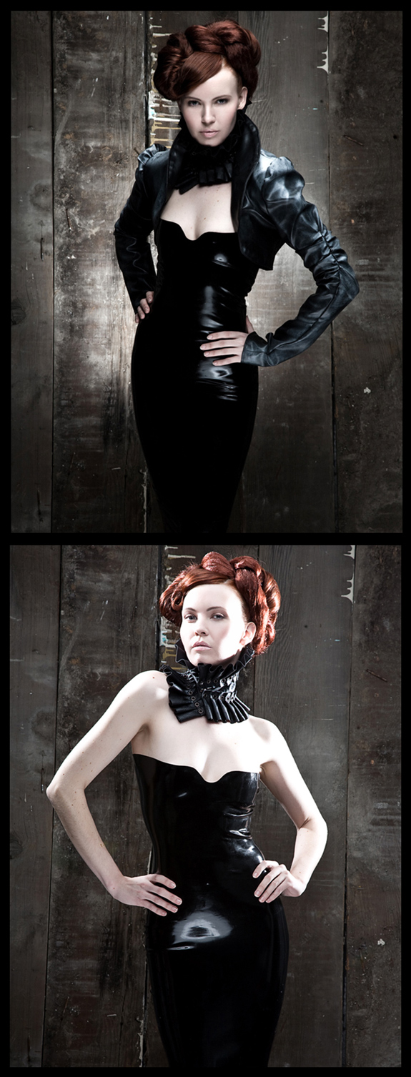 May 15, 2008 venus wept 2008 collar & jacket- mother of london, latex dress- glosscouture