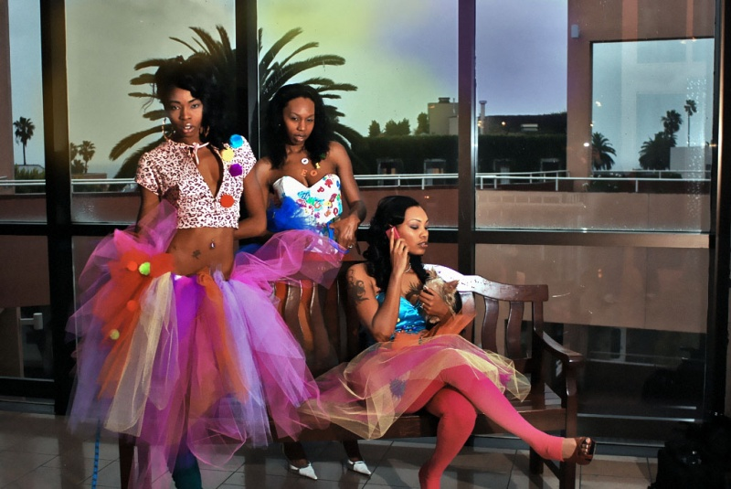 Male and Female model photo shoot of ALTER-EGO COUTURE, Empress Tafari, ShayStelise  and MS STARR by SCrude Photography in Santa Monica