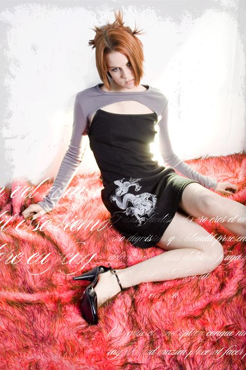 GLAM Studios May 20, 2008 BlakMass Clothing Inc Dragon Summer Dress with Grey Shrug