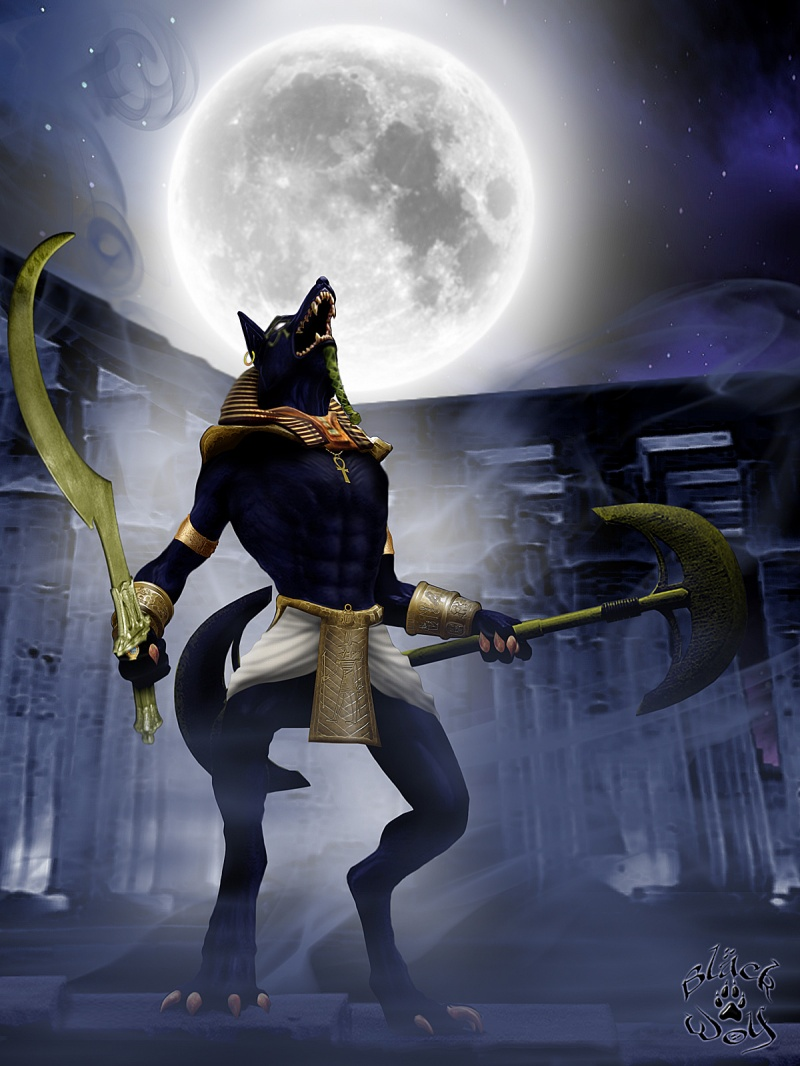 May 22, 2008 Artist: Black Wolf / Model: Sakalyd Rage of Anubis