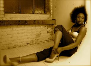 Female model photo shoot of Oge in South End Studio, Boston