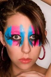 Tempe, Arizona. May 28, 2008 makeup, hair, face paint.