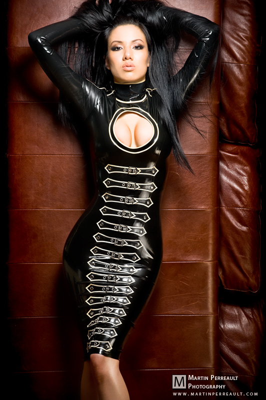 Female model photo shoot of Jade Vixen by Martin Perreault in Montreal, makeup by Catherine Lavoie