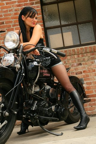 Orange, CA Jun 02, 2008 Magazine shoot with Mike Basso. 1942 Harley