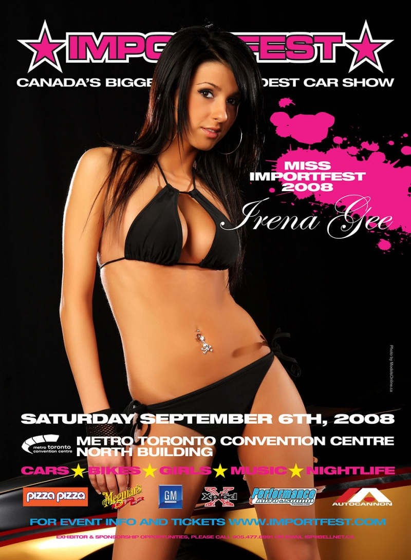 Jun 02, 2008 modelsOnline.ca Irena Gee - IMPORTFEST 2008 magazine ads, flyers, posters