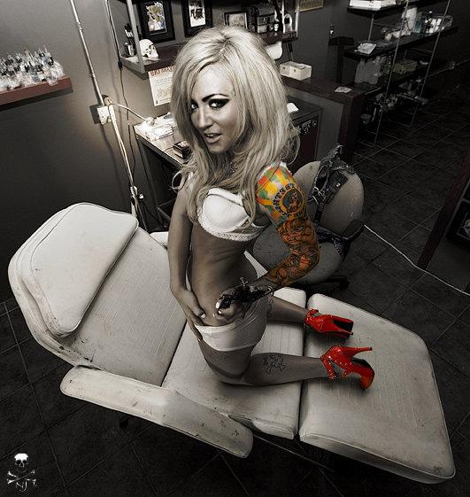 Inkworks Tattoo Studio Jun 04, 2008 Nikki Jumper Just getting ready to tattoo my beehind......