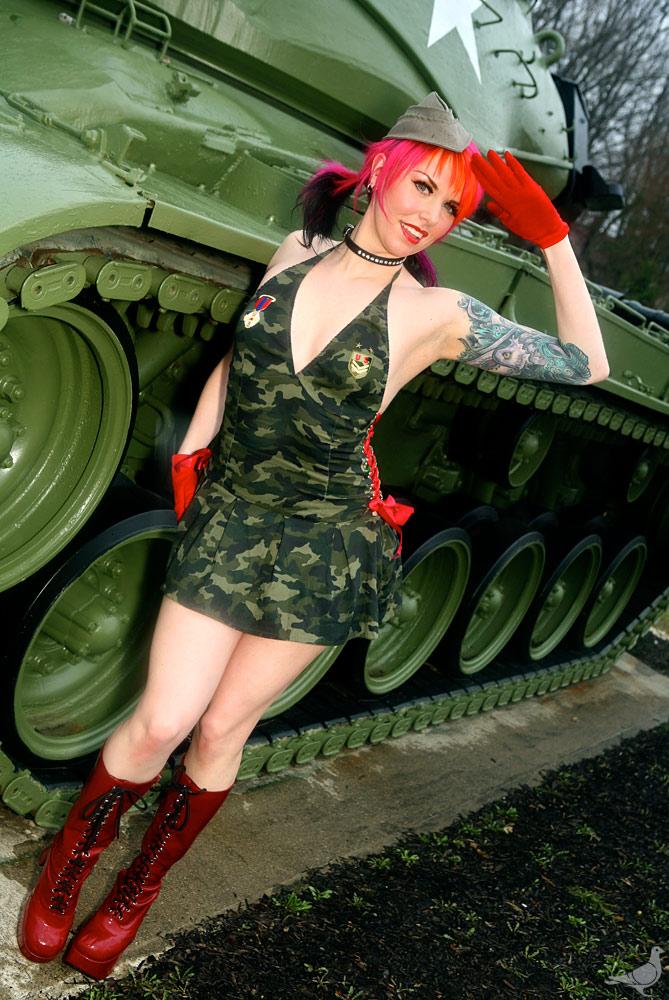 Female model photo shoot of Apocalypse Meow by Alissa Brunelli in Ohio
