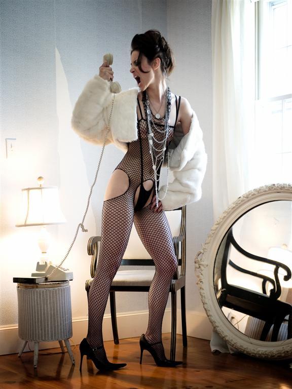 Cape Cod Jun 05, 2008 Coat: Vintage rabbit fur, Bodysuit: photographers own, Necklace: Handmade by stylist, Shoes: models