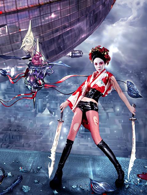 Shanghai Jun 06, 2008 Geeepsy/Zee/Oren Fetish Geisha Warrior