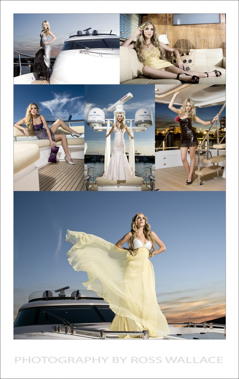 Boat: Squadron 78ft by Fairline WA  Jun 10, 2008 Ross Wallace Elsa Couture #2 - Models Bernice + Harmony, Make up - Rana @ Pink Makeup Artistry, Styling - Bernice