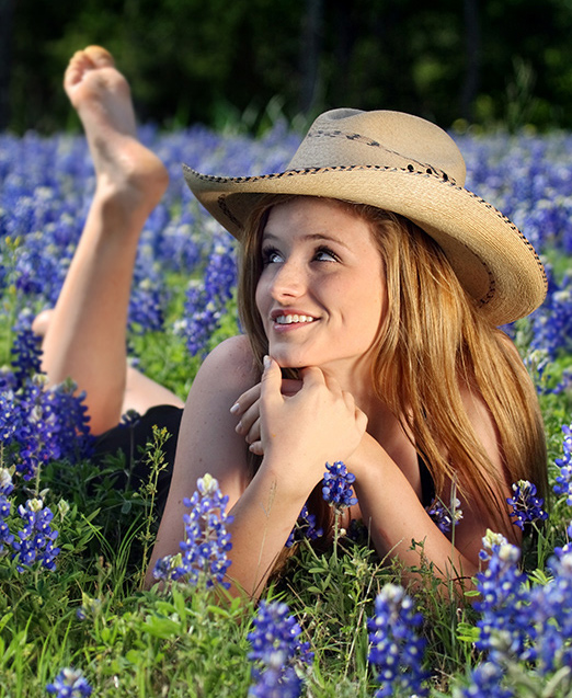 Brenham, Texas Jun 10, 2008 Jaime Vinas Fun in Bluebonnets