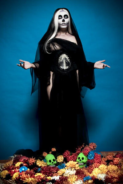 where you come to pray for a peaceful death Jun 12, 2008 VDB is ©&™ Acid PopTart Productions, photo © APT & Kidtee Hello VooDoo Baby channeling La Santisima Muerte