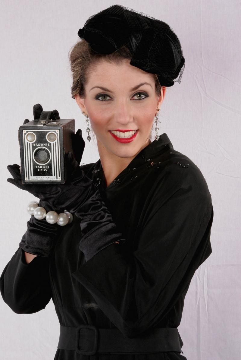 Flashbox Studios- Orange,CA. Jun 12, 2008 (C)Scott Weiner Look its me Audrey Hepburn with my retro camera.