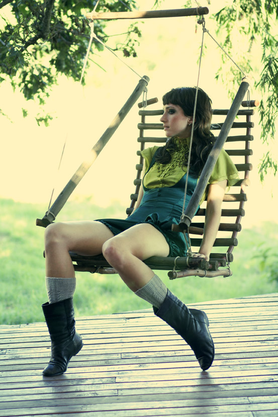 Farm, PE South Africa Jun 13, 2008 Photo: Farran Bagg, Garments: Olivia Crulci Jumpsuit resting