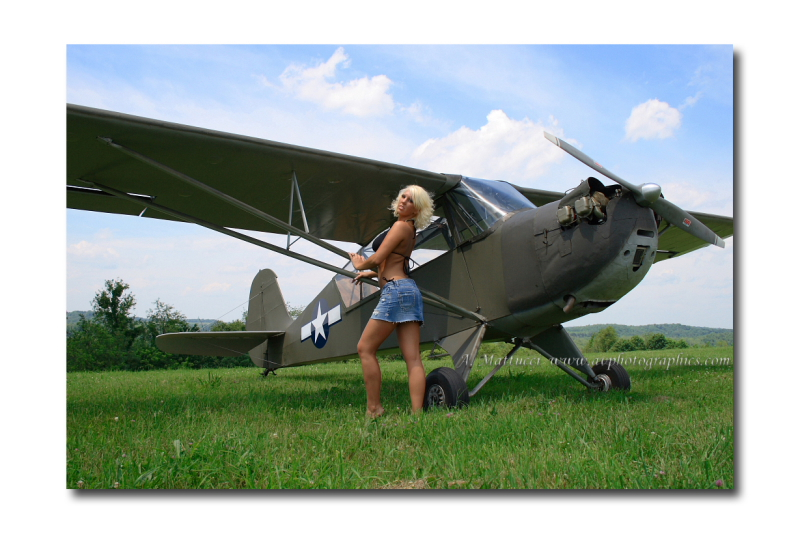 Finleyville, PA Jun 15, 2008 A. Mattucci Photography Corinne: Beautifying this vintage 1941 Aeronca