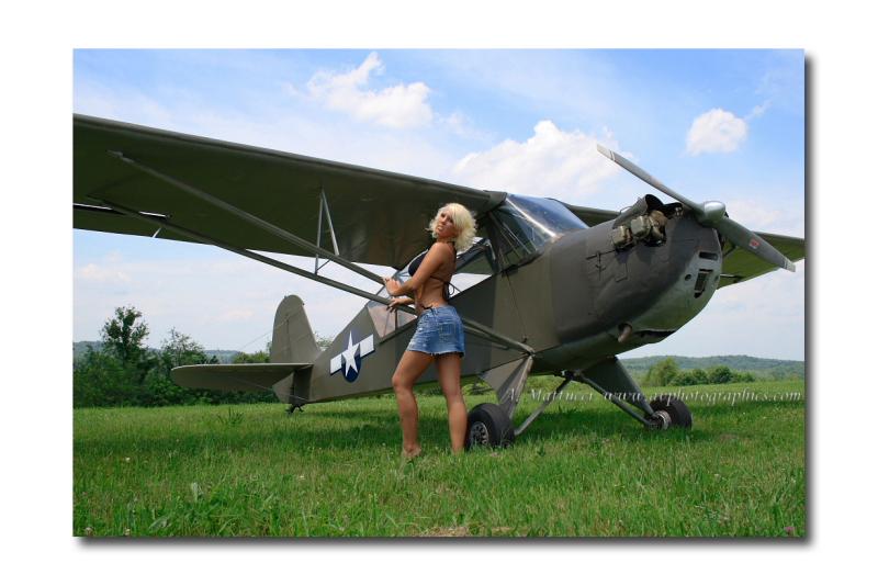Finleyville, PA Jun 15, 2008 A. Mattucci Photography Corinne: Beautifying this vintage 1941 Aeronca