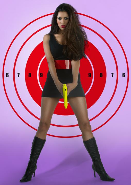 LONDON Jun 16, 2008 Mel Bagshaw GUNS AND POSES:target