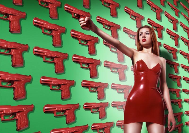 LONDON Jun 16, 2008 Mel Bagshaw GUNS AND POSES: