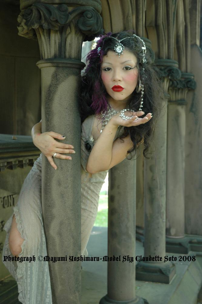 Cemetary NYC Jun 18, 2008 Photographer Mayumi Yoshimaru 2008 Sky Claudette Soto In A Cemetary