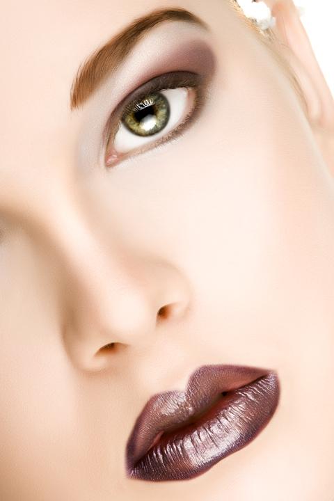 Saint George, Utah Jun 22, 2008 2008 Skyy McKendry Model: Miss Utahn, Hair: Tyson, MUA: Makeup by Kirsten, Concept & Styling: Skyy McKendry Winter Beauty Close-Up - Ice Crystal Near Ear