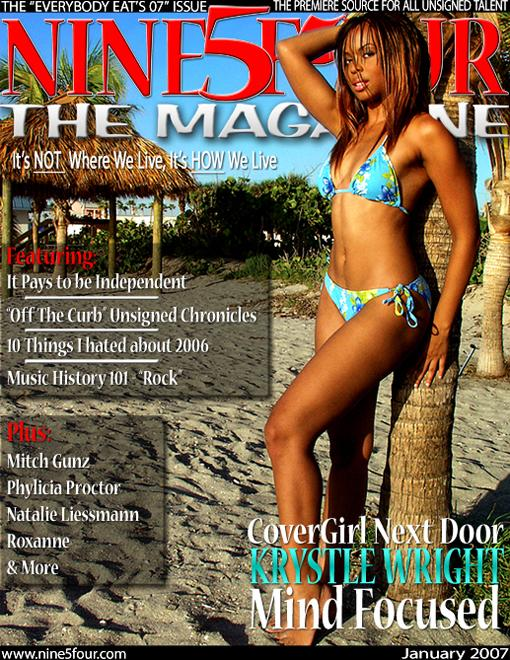 Ft. Lauderdale Beach Jun 25, 2008 2007 Nine5Four The Magazine Krystle Wright January 2007 Cover