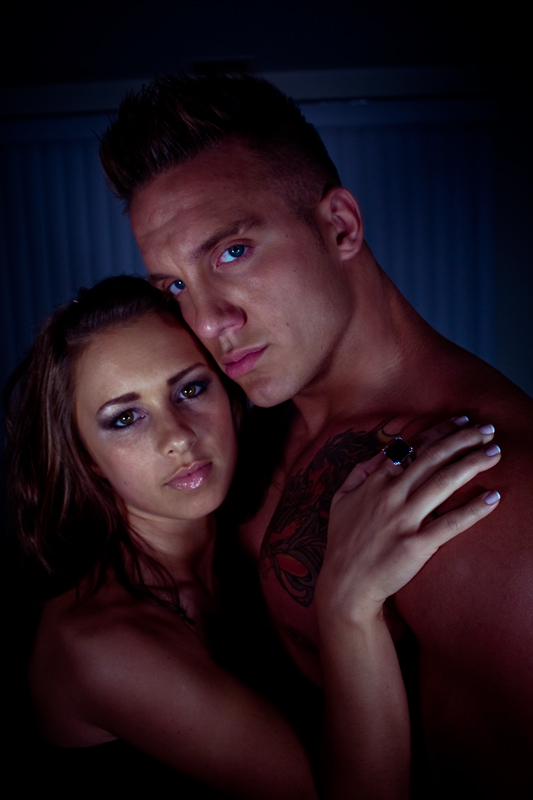 Male and Female model photo shoot of Jonny Cured, Miss Victoria Marie and James Vain in Nashua, NH