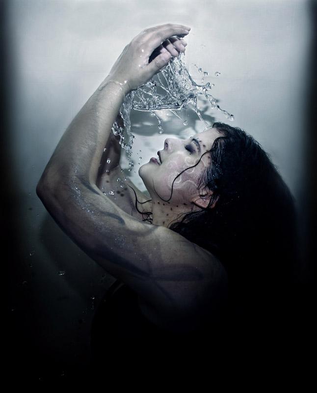 Female model photo shoot of Visual Echoes in Bathtub